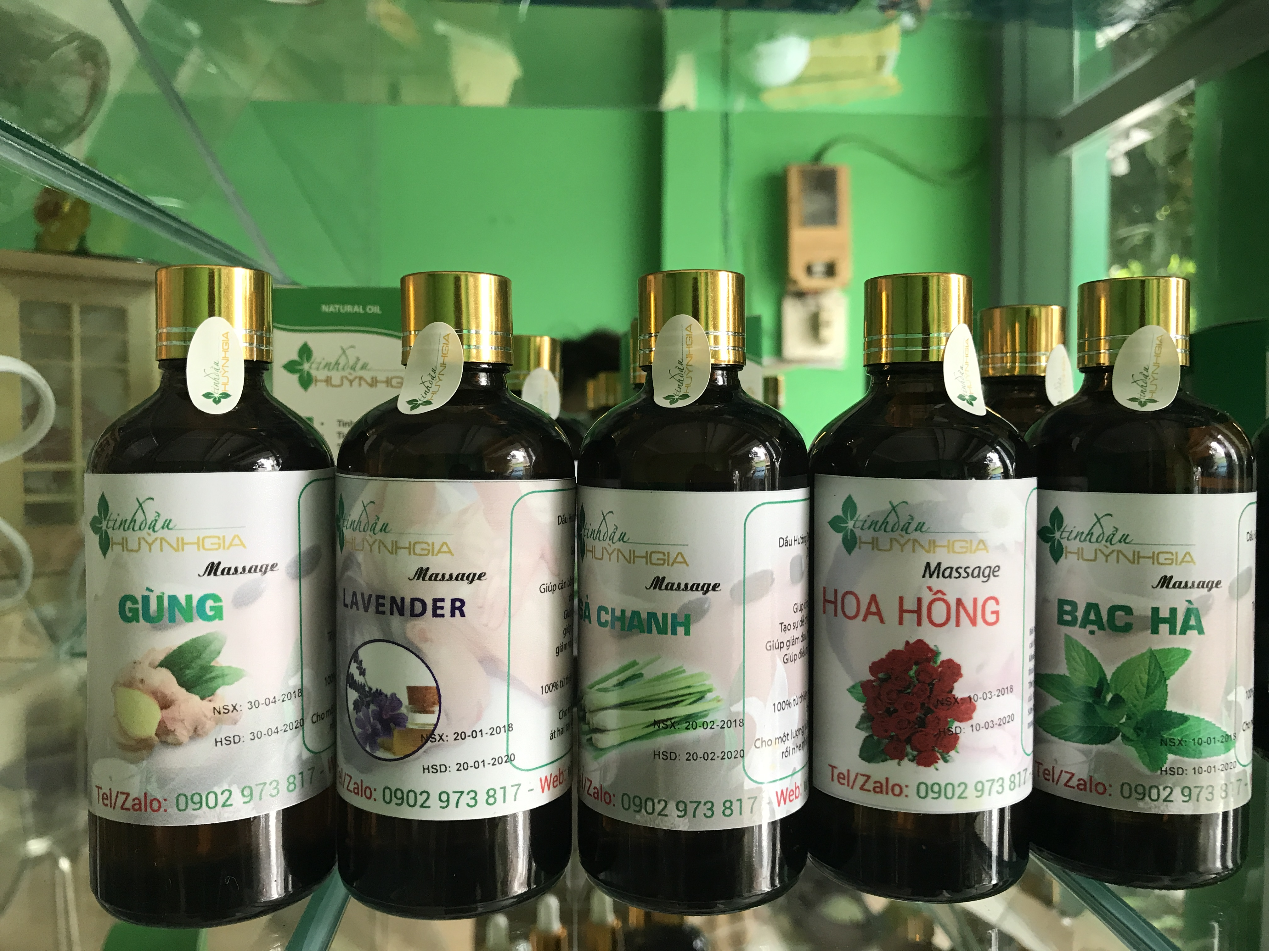 combo dầu massage