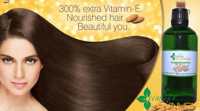 tinh dầu hạnh nhân trị rụng tóc