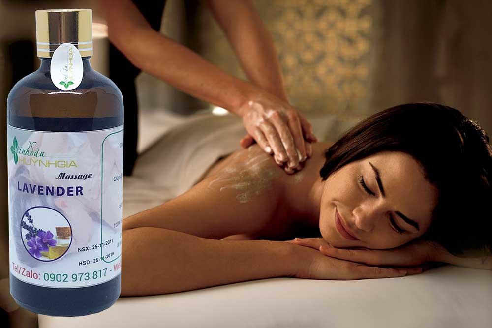 tinh dầu massage lavender