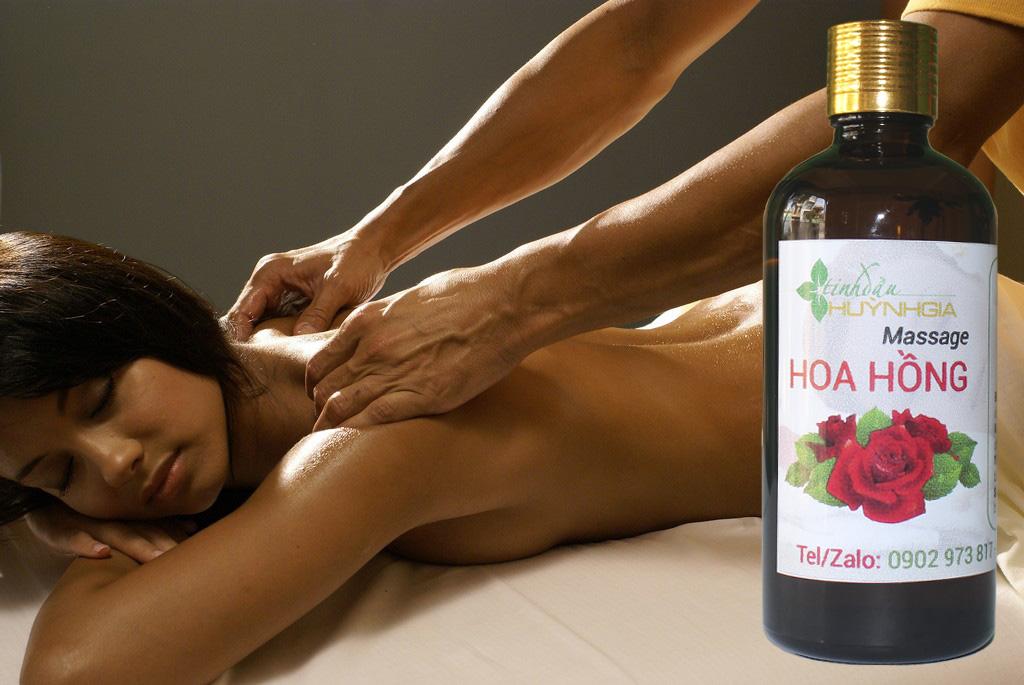 tinh dau massage toan than hoa hong